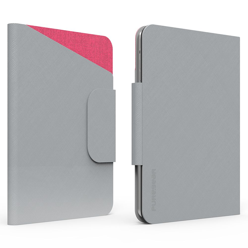 8 inch Tablet Folio Elite with ID CC Slot - Gray/Pink