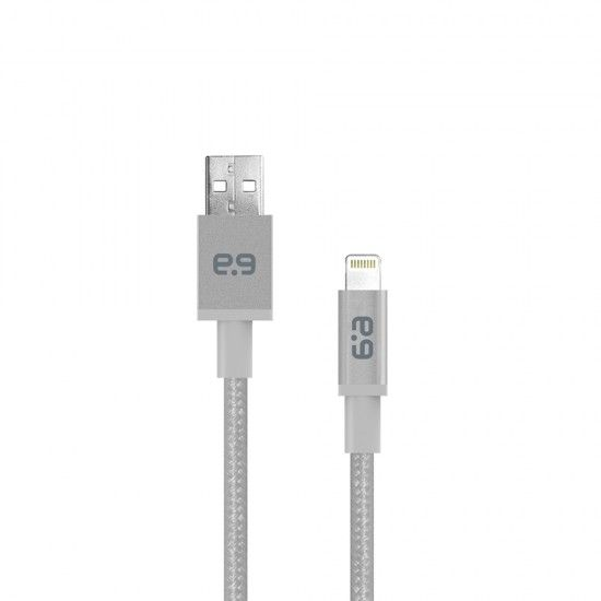 10ft Braided USB-A to Lightning Cable - Space Gray