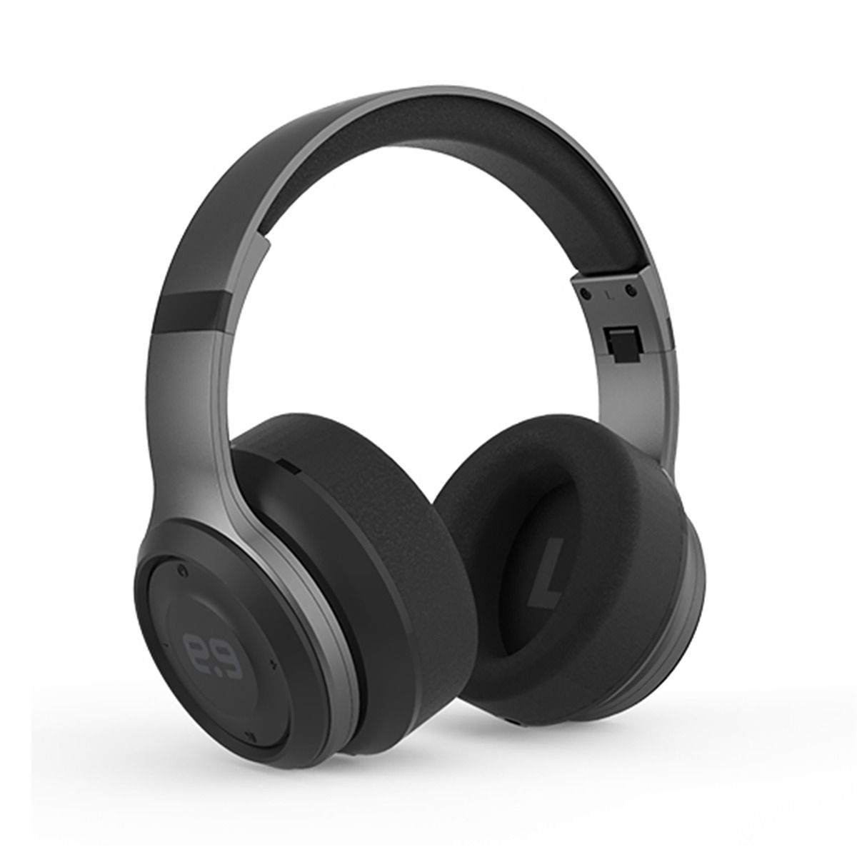 PureBoom Over the Ear Headphones with Pouch - Gunmetal