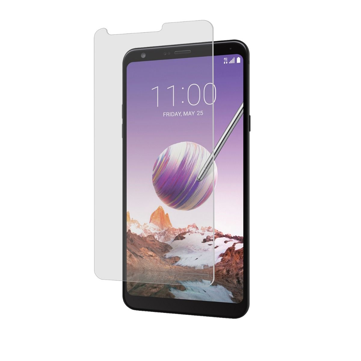 LG Stylo 4/LG Q Stylo Plus High-Definition Glass Screen Protector with Alignment Tray