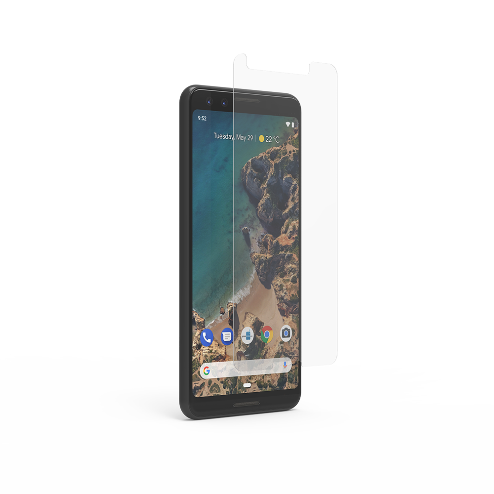 Google Pixel 3 XL High-Definition Glass Screen Protector with Alignment Tray