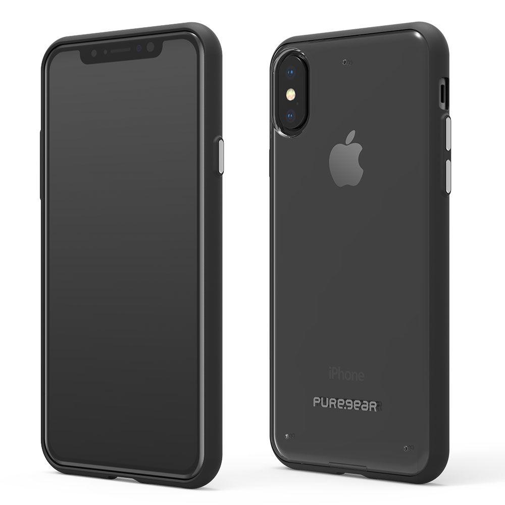 Apple iPhone Xs/X Slim Shell Case - Clear/Black