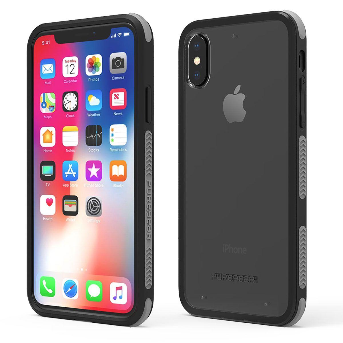 Apple iPhone Xs/X DualTek Clear Case - Clear/Black