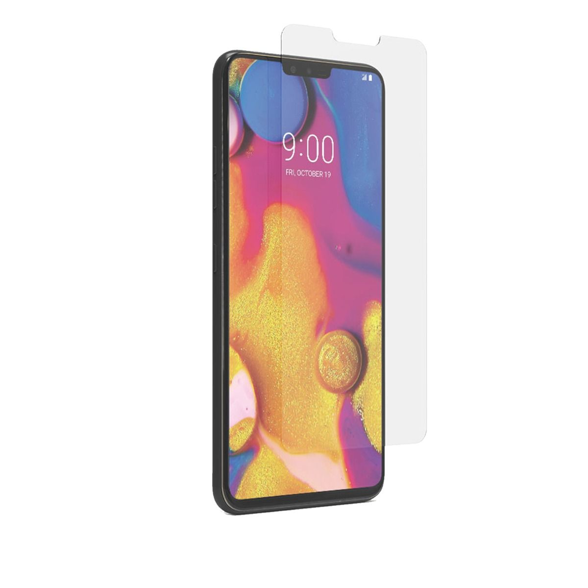 LG V40 ThinQ High-Definition Glass Screen Protector with Alignment Tray