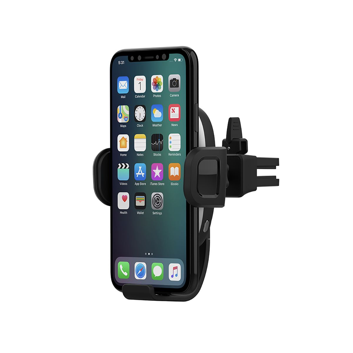 AutoGrip Wireless Car Charger Vent Mount - Black