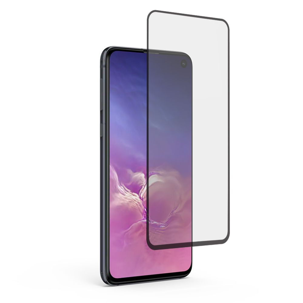 Samsung Galaxy S10e High-Definition Glass Screen Protector with Black Border and Alignment Tray