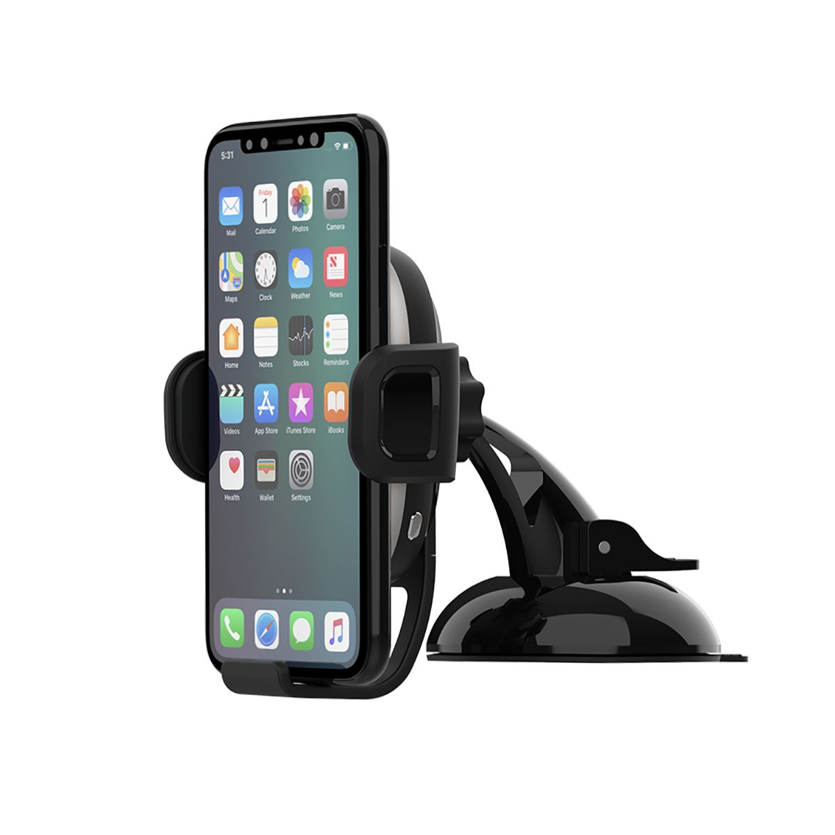 AutoGrip Wireless Car Charger Dash Mount - Black