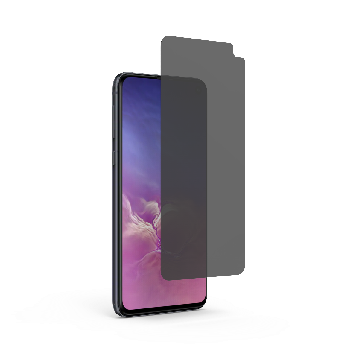 Samsung Galaxy S10e 2-Way Privacy High-Definition Glass Screen Protector with Alignment Tray
