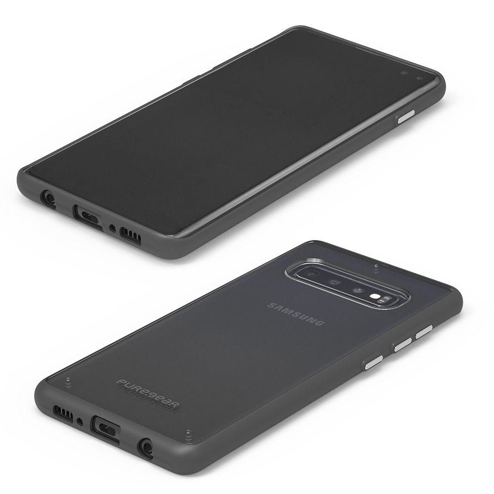 Samsung Galaxy S10 Plus Slim Shell Case - Clear/Black