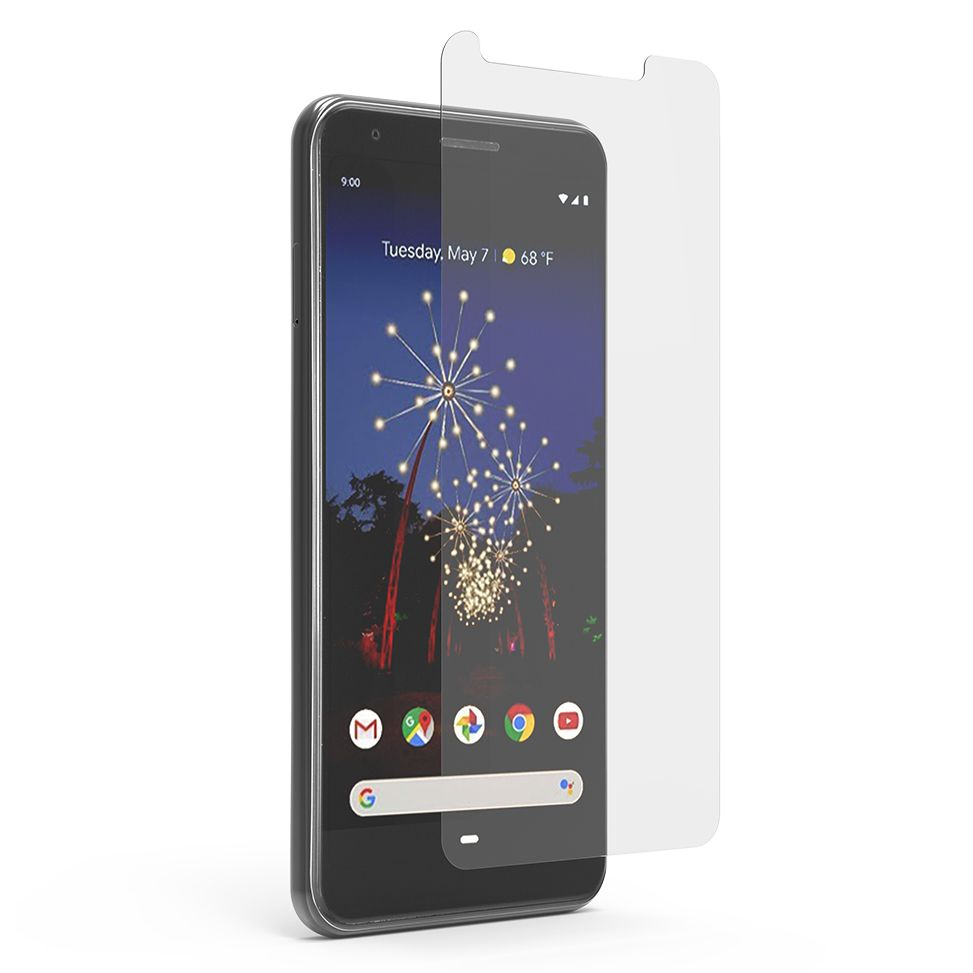 Google Pixel 3a XL High-Definition Glass Screen Protector with Alignment Tray