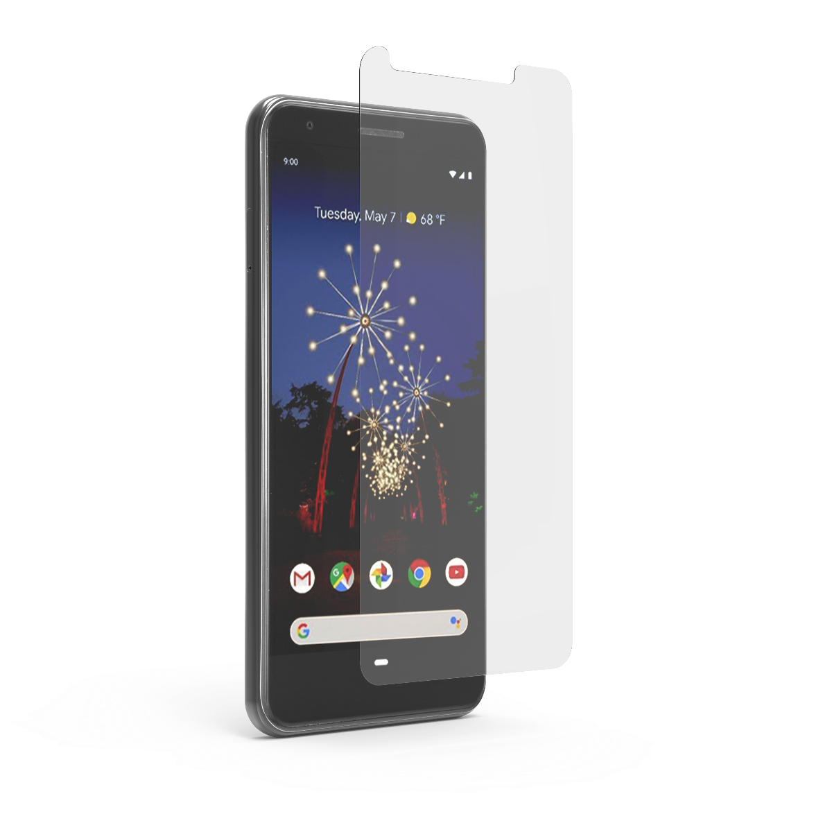 Google Pixel 3a XL Steel 360 Tempered Glass Screen Protector with Alignment Tray and Pure Pledge up to $100