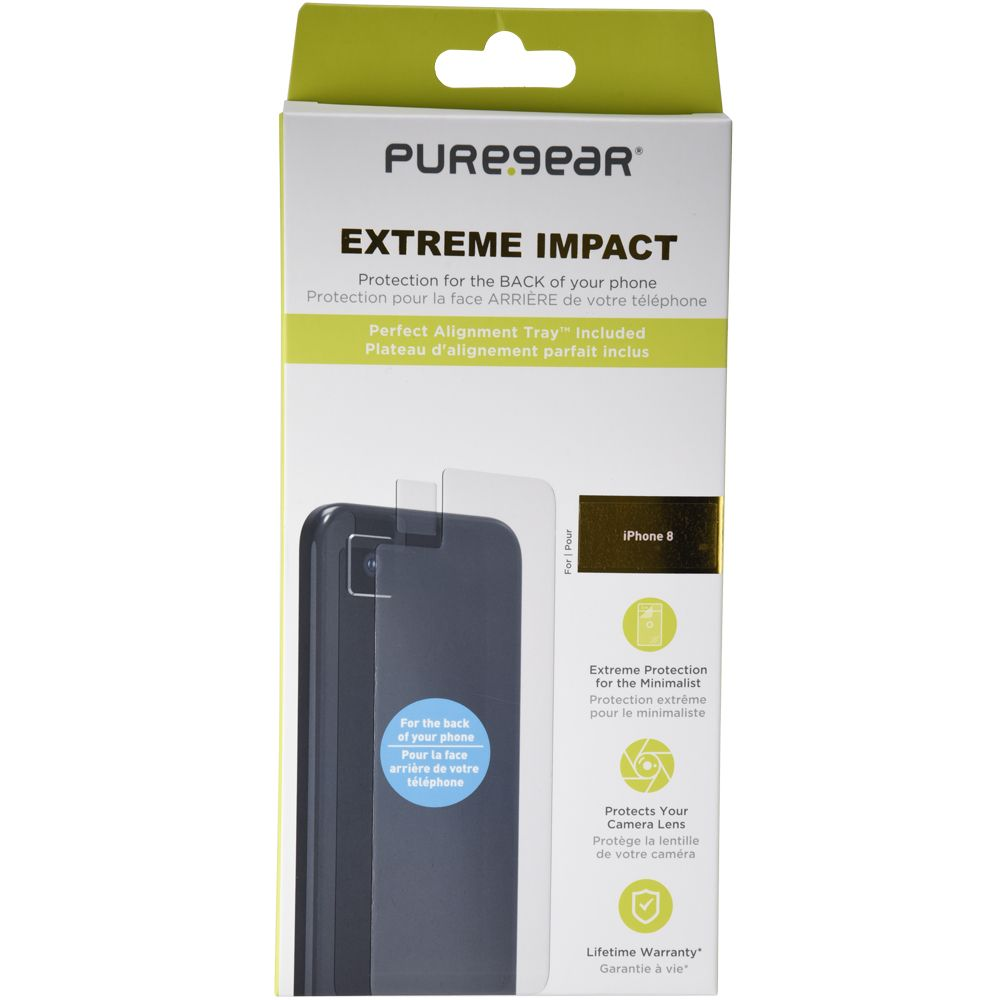 Apple iPhone 8 Extreme Impact Back and Camera Lens Screen Protector With Alignment Tray