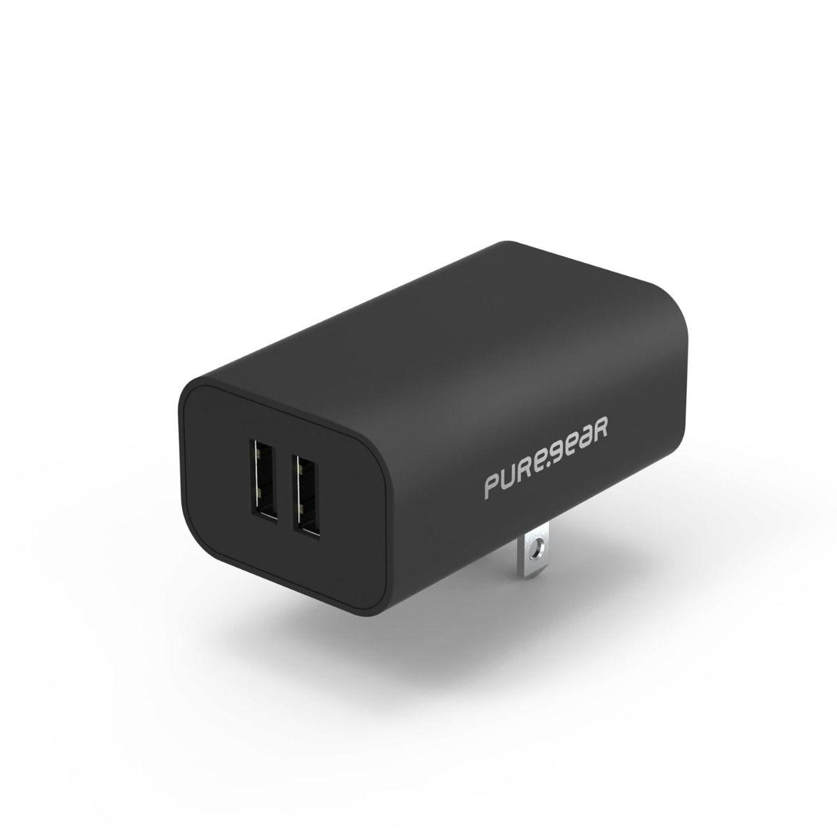 24W Universal Dual USB-A Wall Charger 5V/4.8A - Black