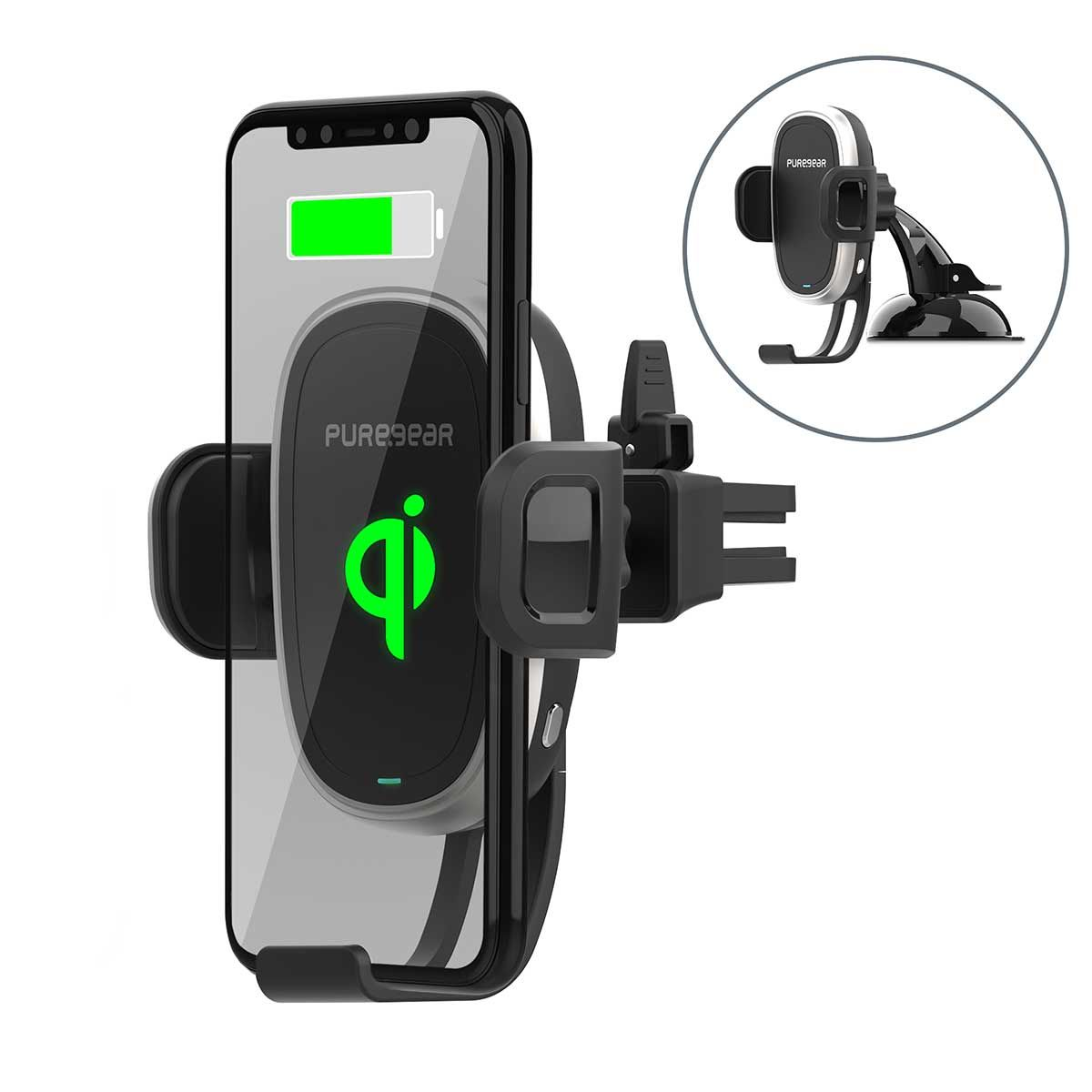 AutoGrip Wireless Car Charger with Self-Gripping System