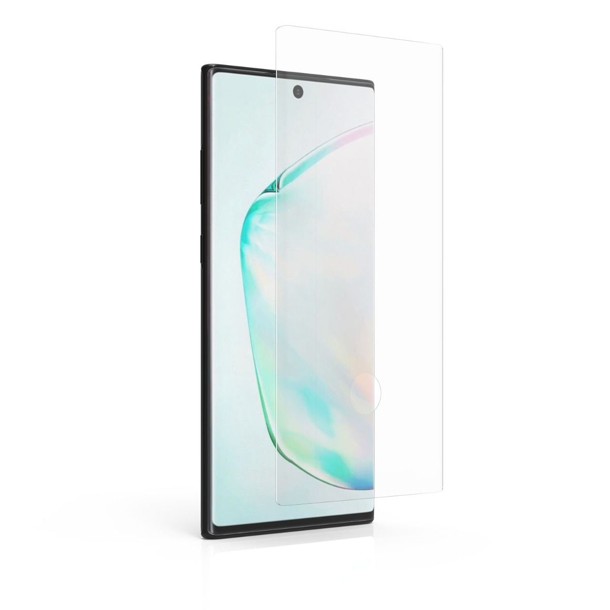 Samsung Galaxy Note10+ Curved Steel 360 Tempered Glass Screen Protector with Fingerprint Sensor Ready and Alignment Tray and Pure Pledge up to $100