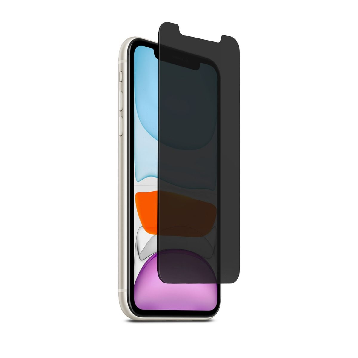 Apple iPhone 11 2-Way Privacy Glass Screen Protector with Alignment Tray