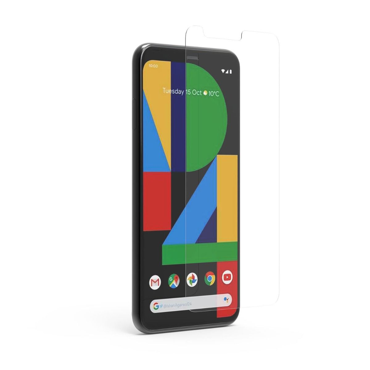 Google Pixel 4 High-Definition Clear Screen Protector with Alignment Tray