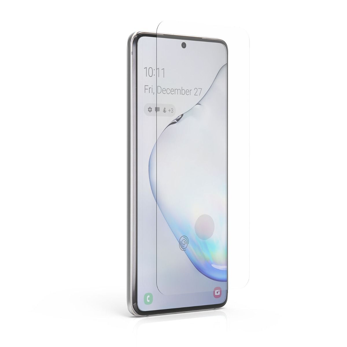 Samsung Galaxy S20 Steel 360 Curved Glass Fingerprint Sensor Ready Screen Protector with Clear Borders, Alignment Tray, and Pure Pledge up to $100
