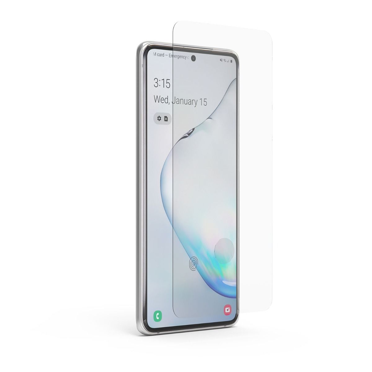 Samsung Galaxy S20+ Steel 360 Curved Glass Fingerprint Sensor Ready Screen Protector with Alignment Tray and Pure Pledge up to $100