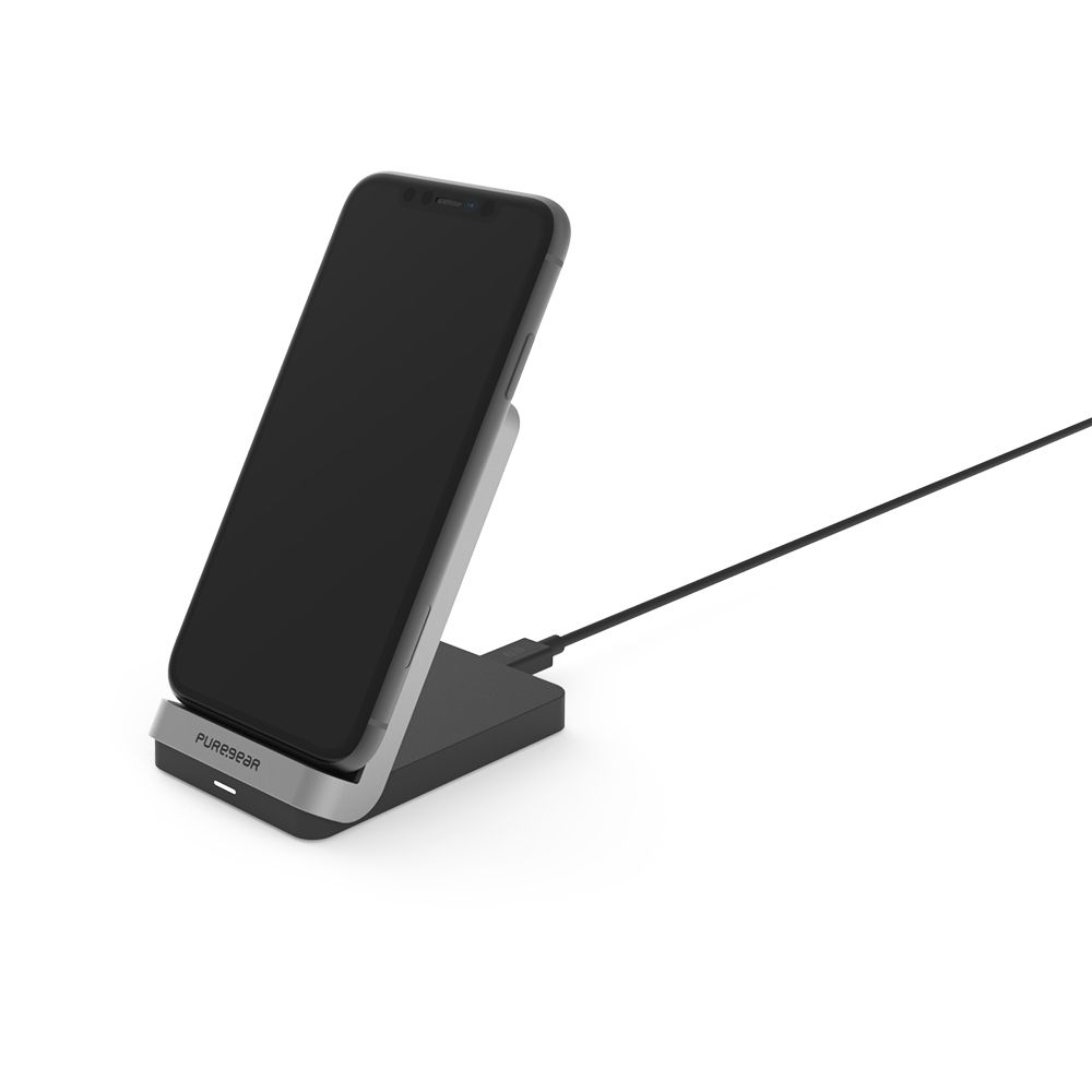 7.5/10W 2-Coil Qi Wireless Charging Stand - Black