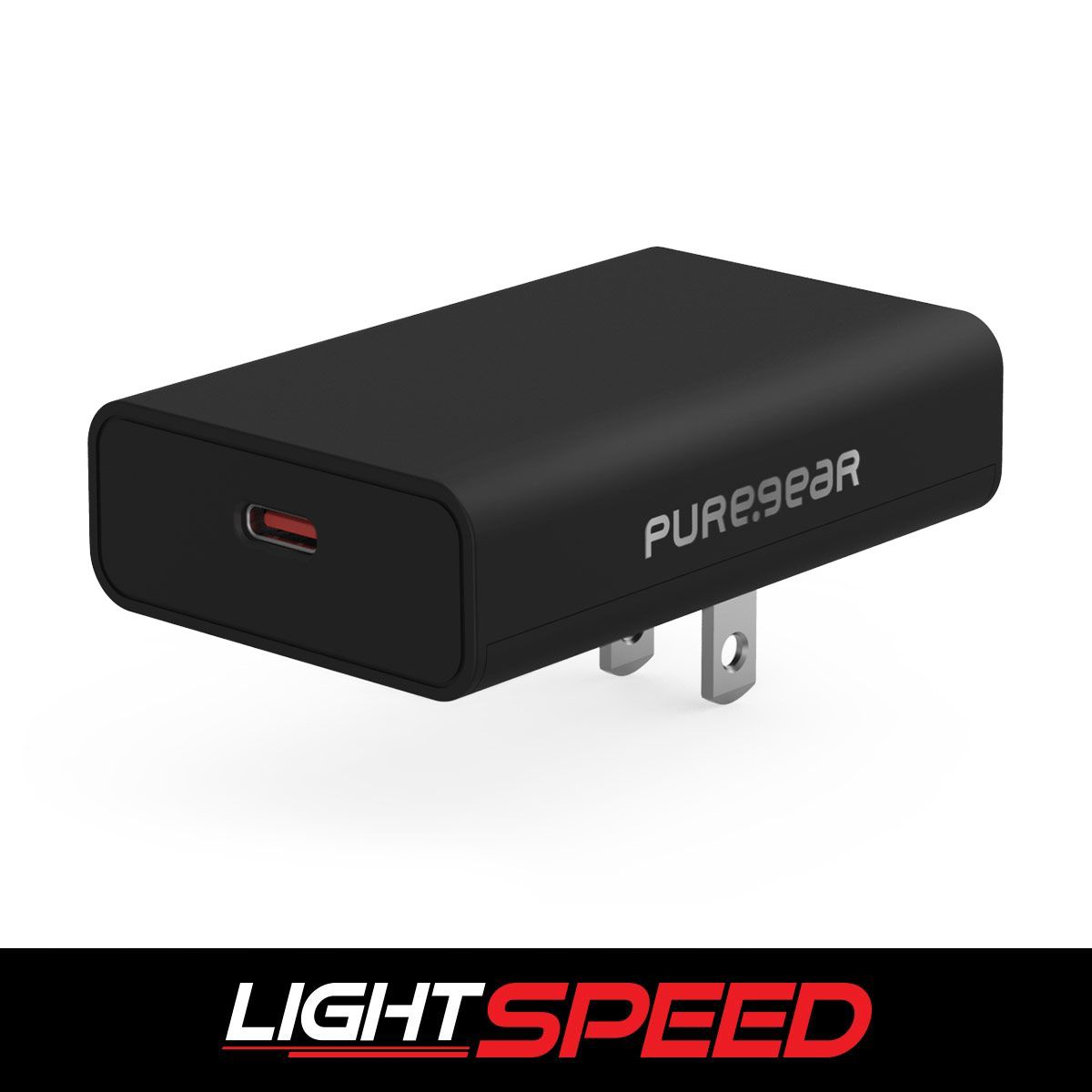LightSpeed - 45W Slim Single USB-C PD Wall Charger - Black