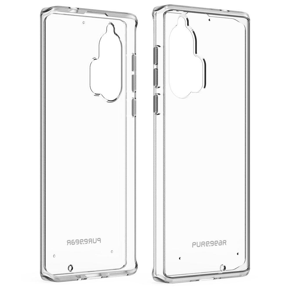 Motorola edge + Slim Shell Case - Clear/Clear