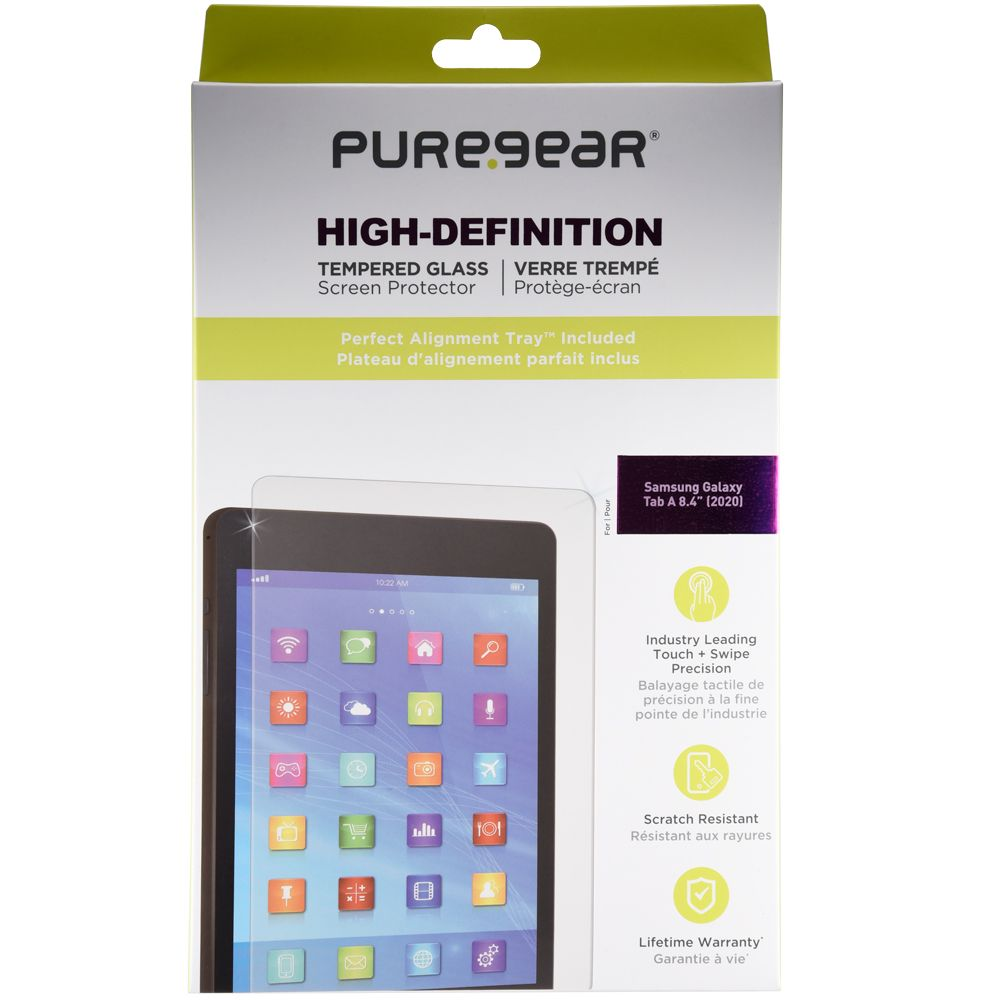 Samsung Tab A 8.4 2020 High-Definition Glass Screen Protector with Alignment Tray