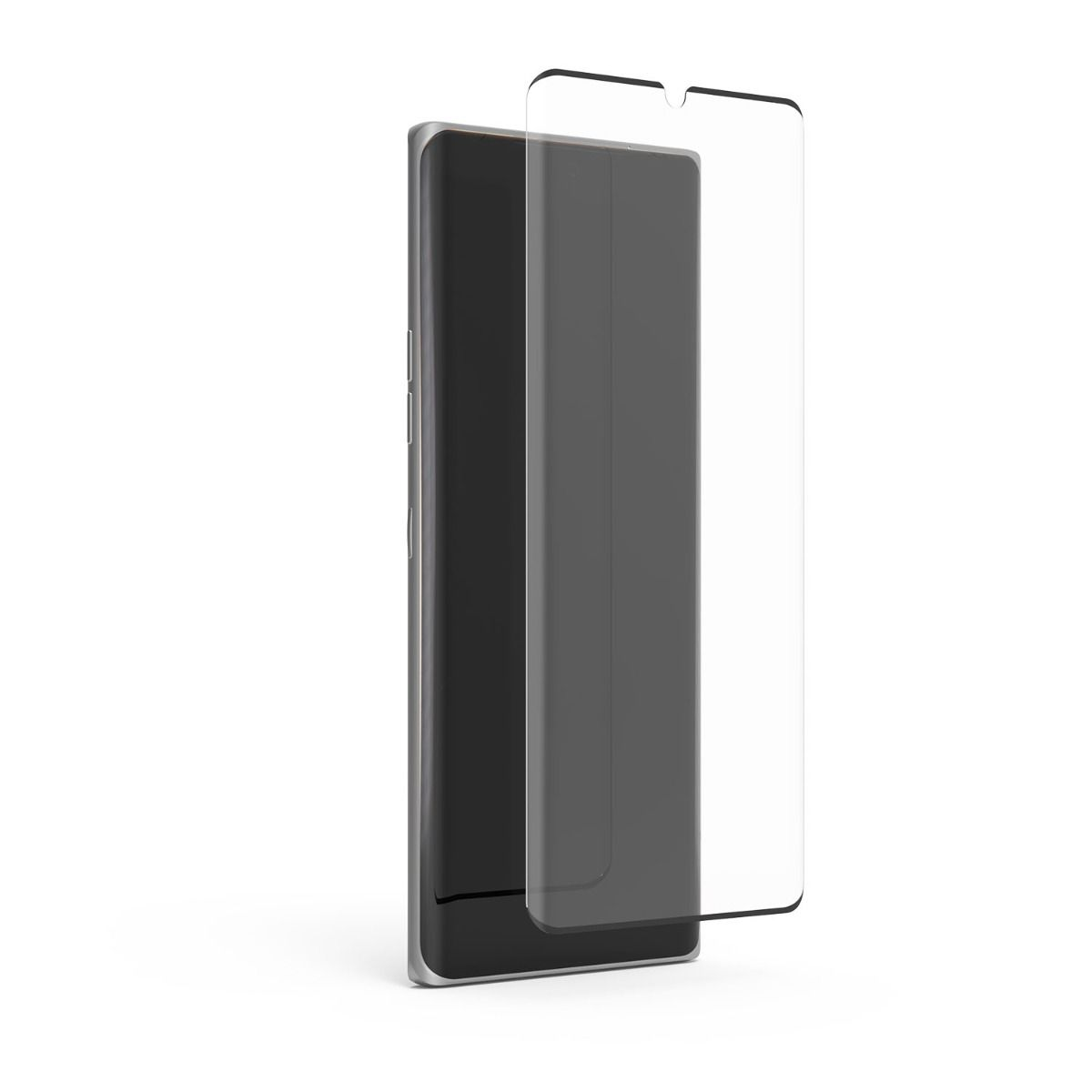 LG Velvet 5G High-Definition Curved Glass Screen Protector with Black Borders and Alignment Tray