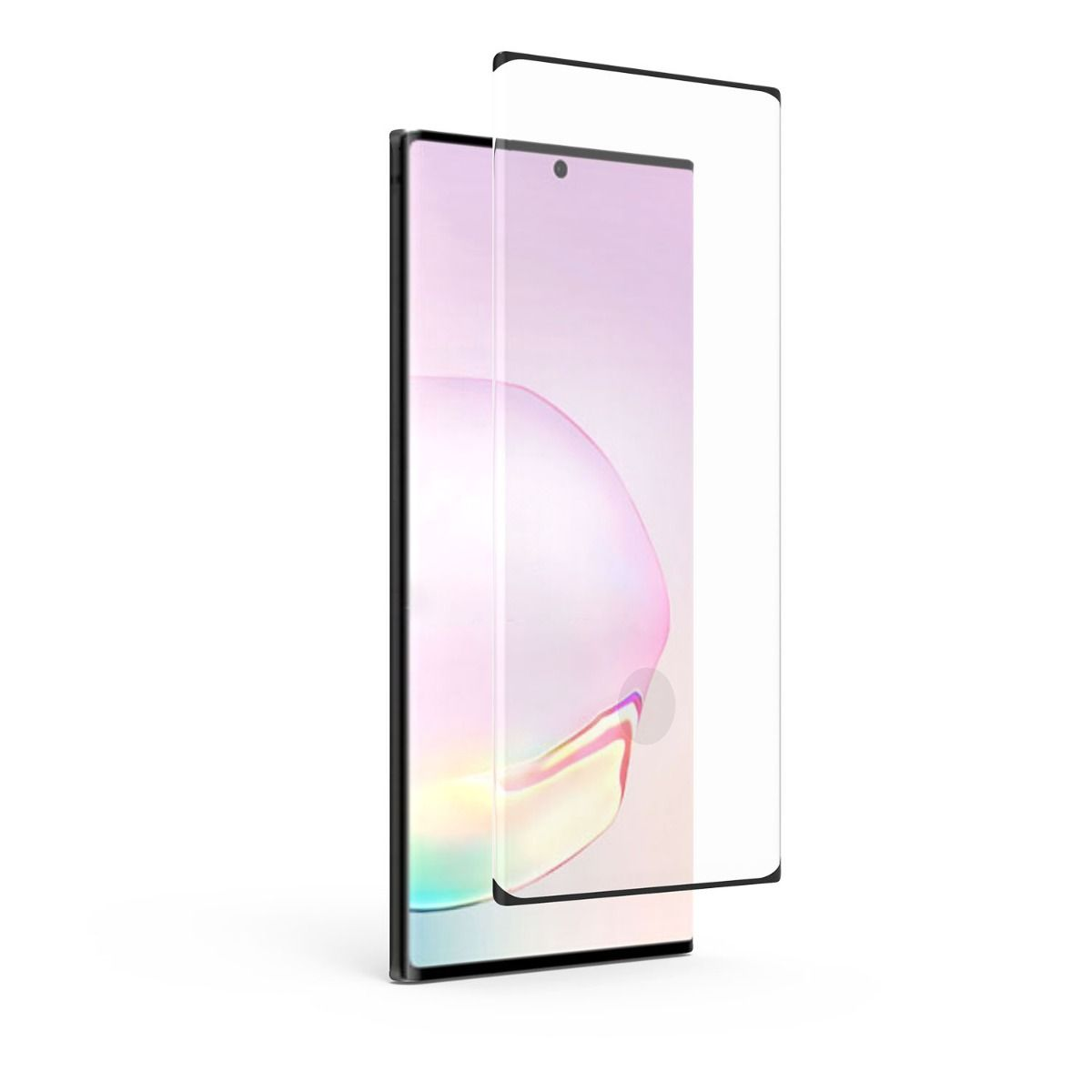 Samsung Galaxy Note20 Ultra 5G Steel 360 Antimicrobial Tempered Glass Fingerprint Sensor Ready Screen Protector with Black Borders, Alignment Tray and Pure Pledge up to $100