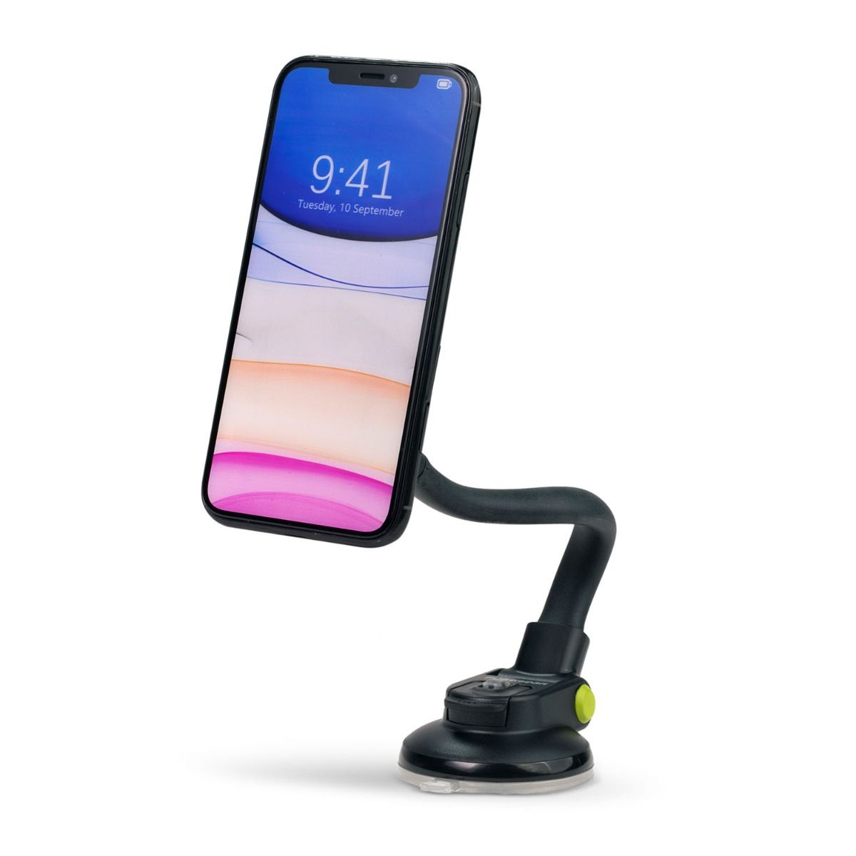 Universal Magnetic Suction Cup Car Mount - Black