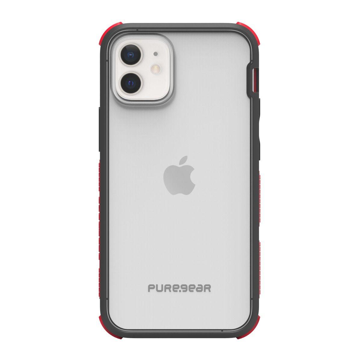 Apple iPhone 12 mini DualTek Clear - Black/Red