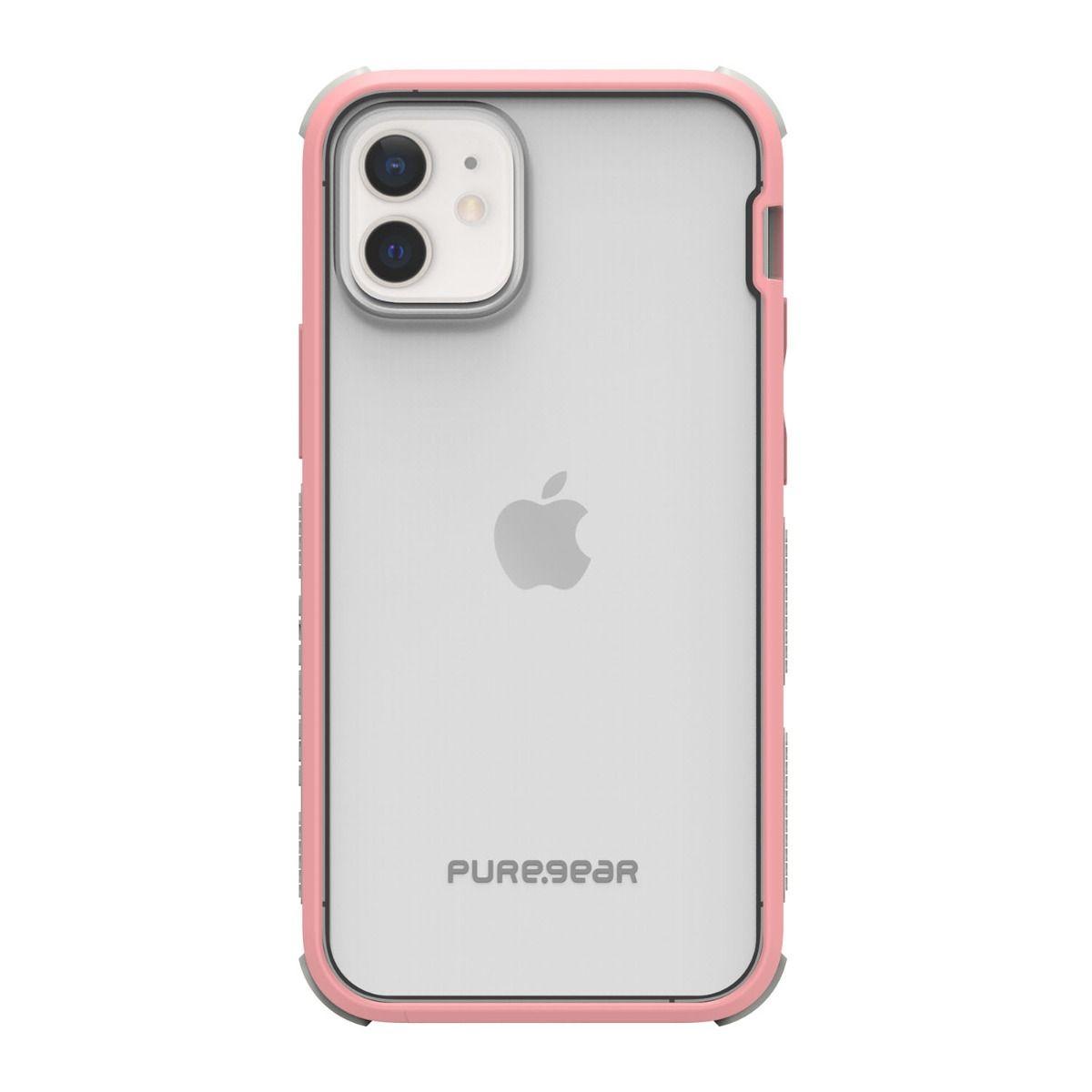 Apple iPhone 12 mini DualTek Clear - Pink/Gray