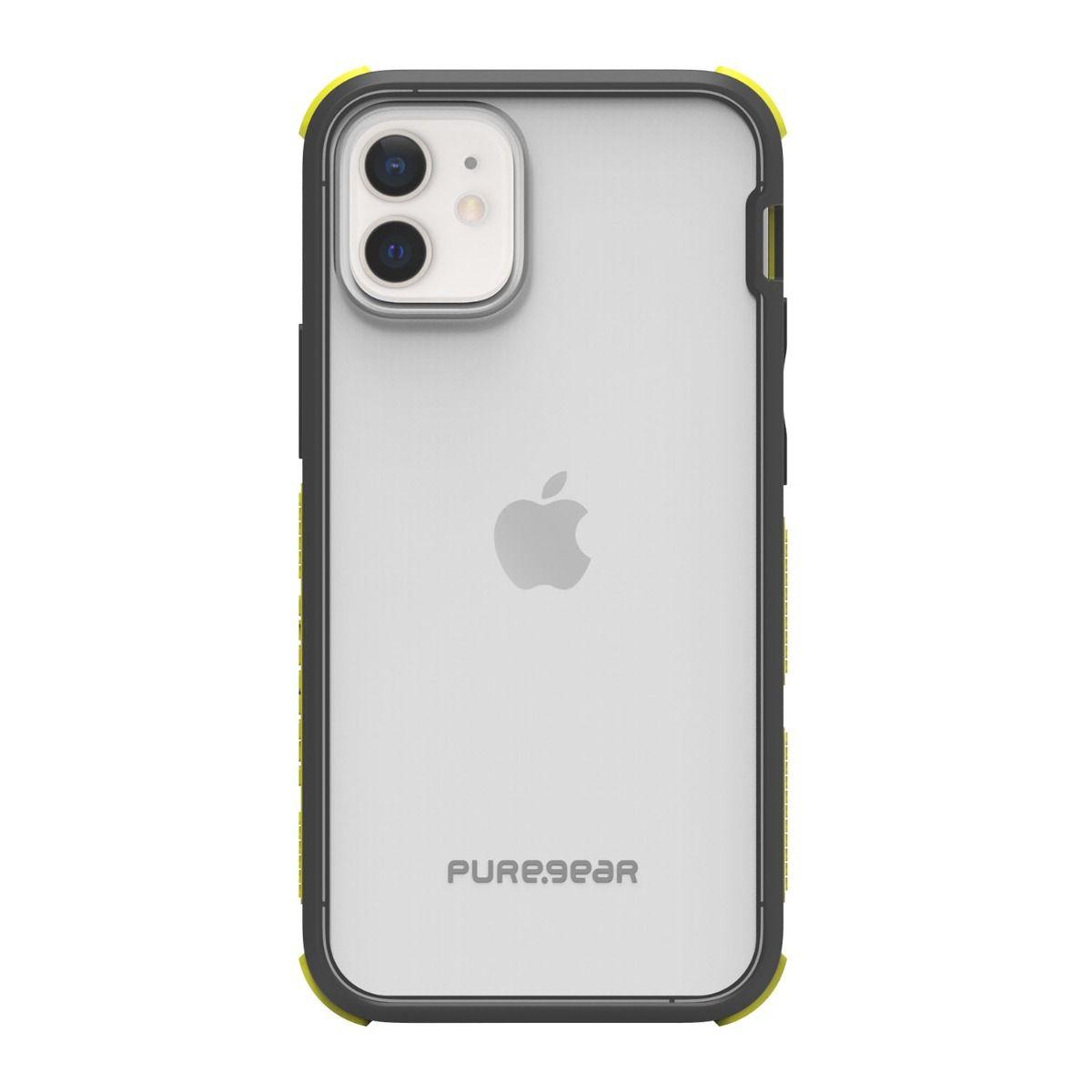 Apple iPhone 12 mini DualTek Clear - Black/Yellow
