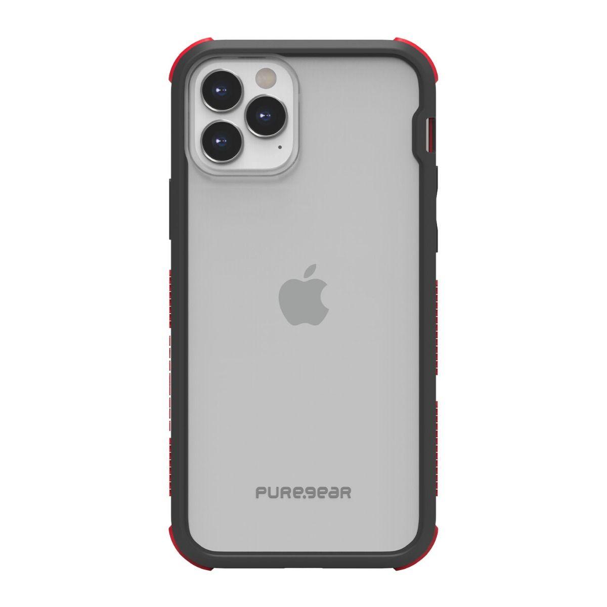 Apple iPhone 12/ 12 Pro DualTek Clear - Black/Red