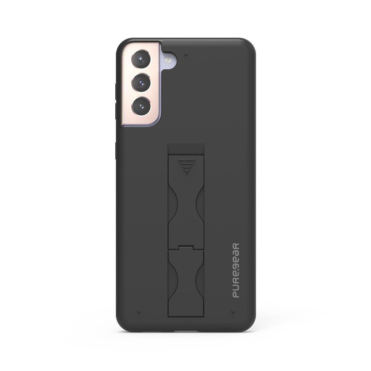 Samsung Galaxy S21+ 5G SlimStik, Antimicrobial Kickstand Case – Soft Touch Black
