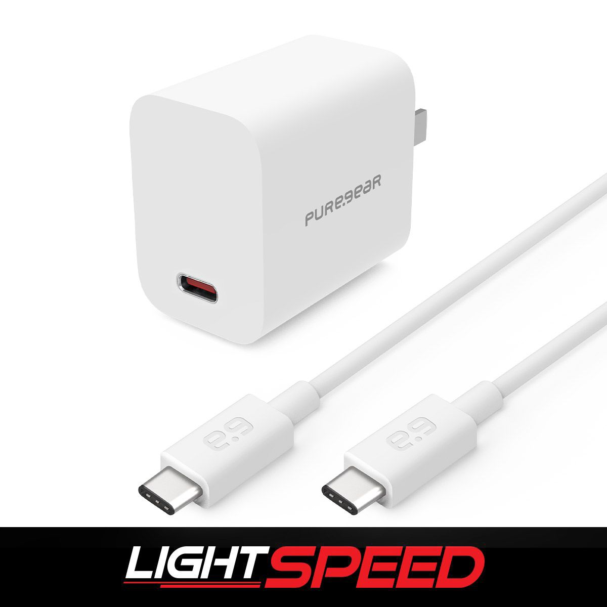LightSpeed - 20W Single USB-C PD Wall Charger - White