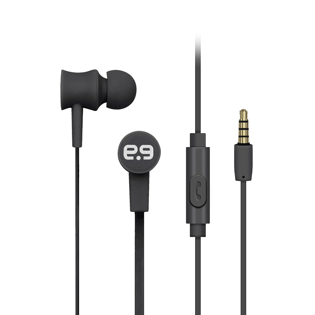 PureBoom Aux Corded EarBuds - Black