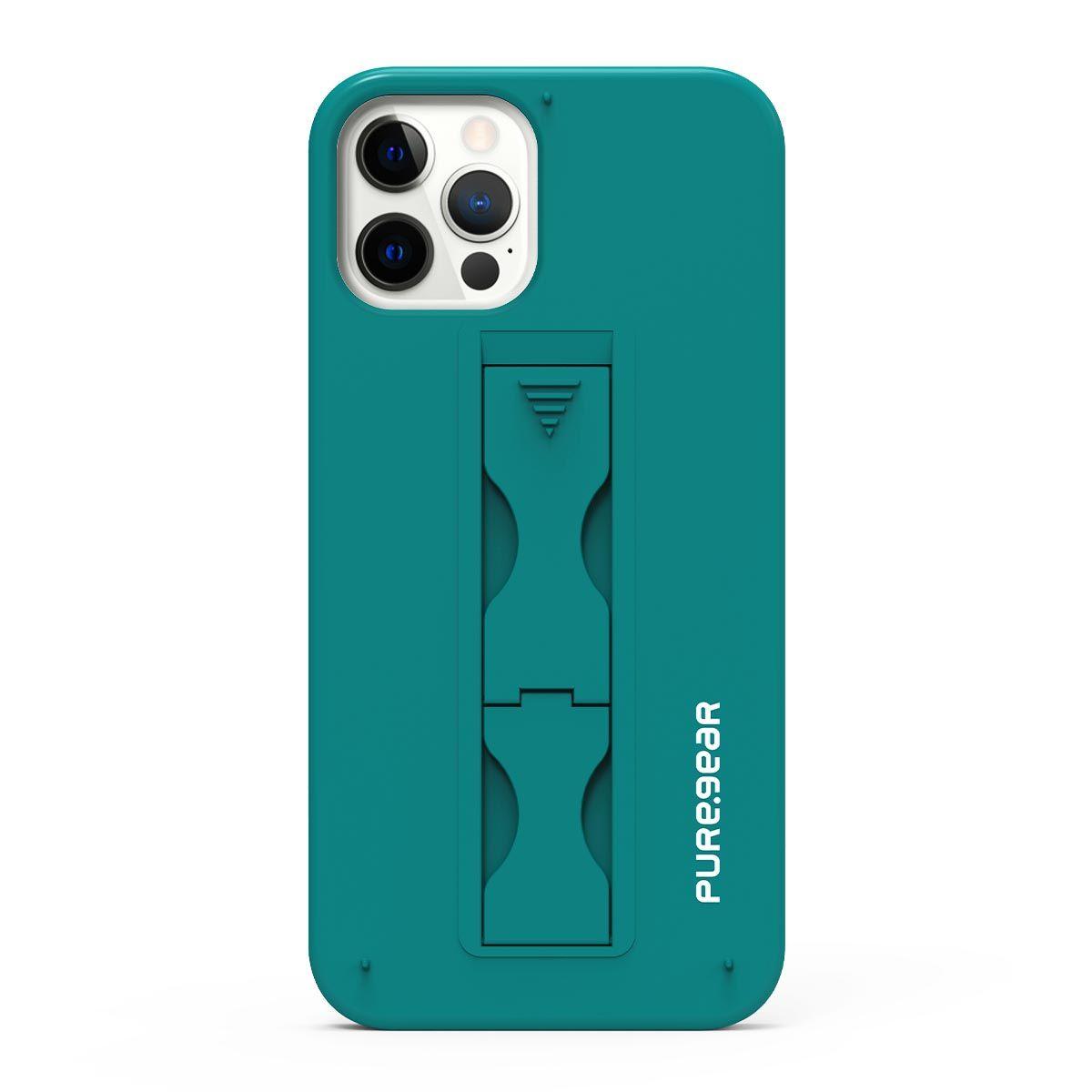 Apple iPhone 12 Pro Max SlimStik, Antimicrobial Kickstand Case – Blue Lagoon